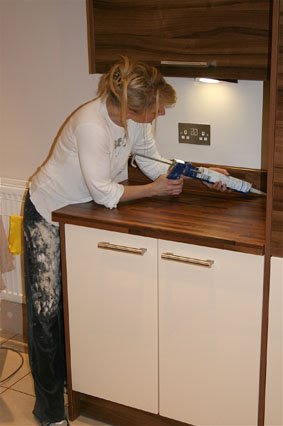 How To Fit Upstand On Kitchen Worktop