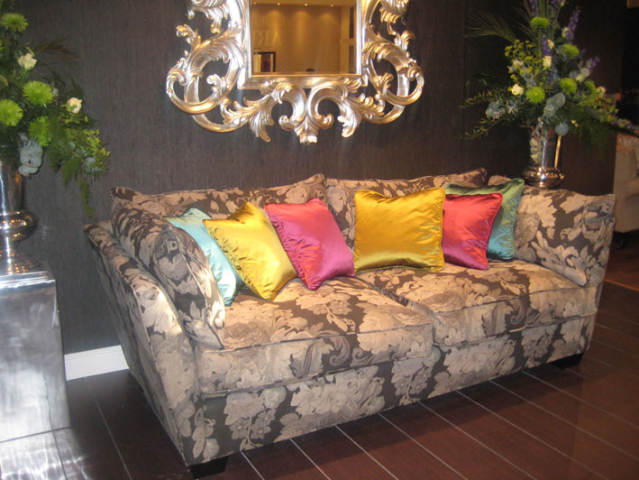 Fabulous colourful sofas at Birmingham Interiors 2009