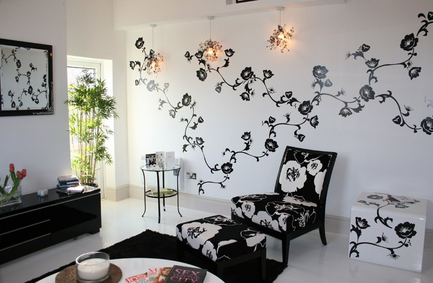 design ikea wall stickers in project monochrome living