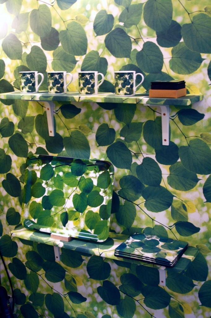The inside of Ella Doran's shed installation at Designersblock
