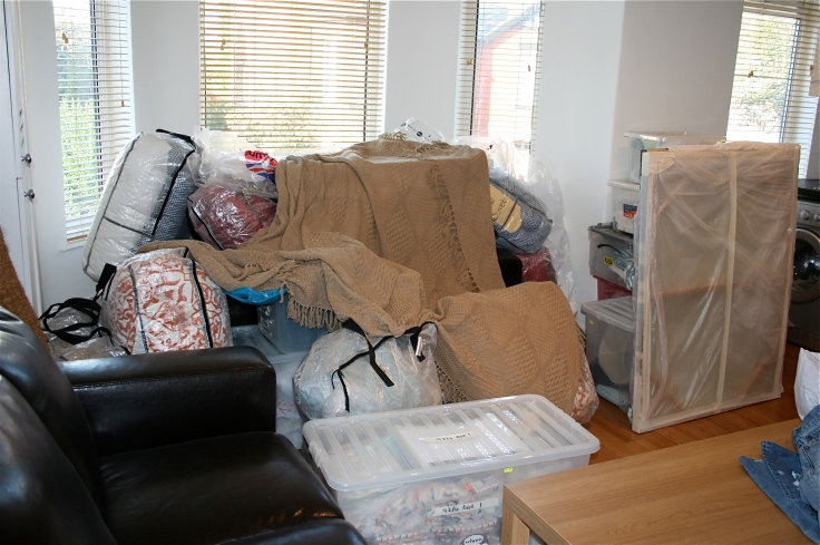 Before shot of living room