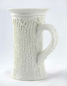 Claire Gage tall knitted cup