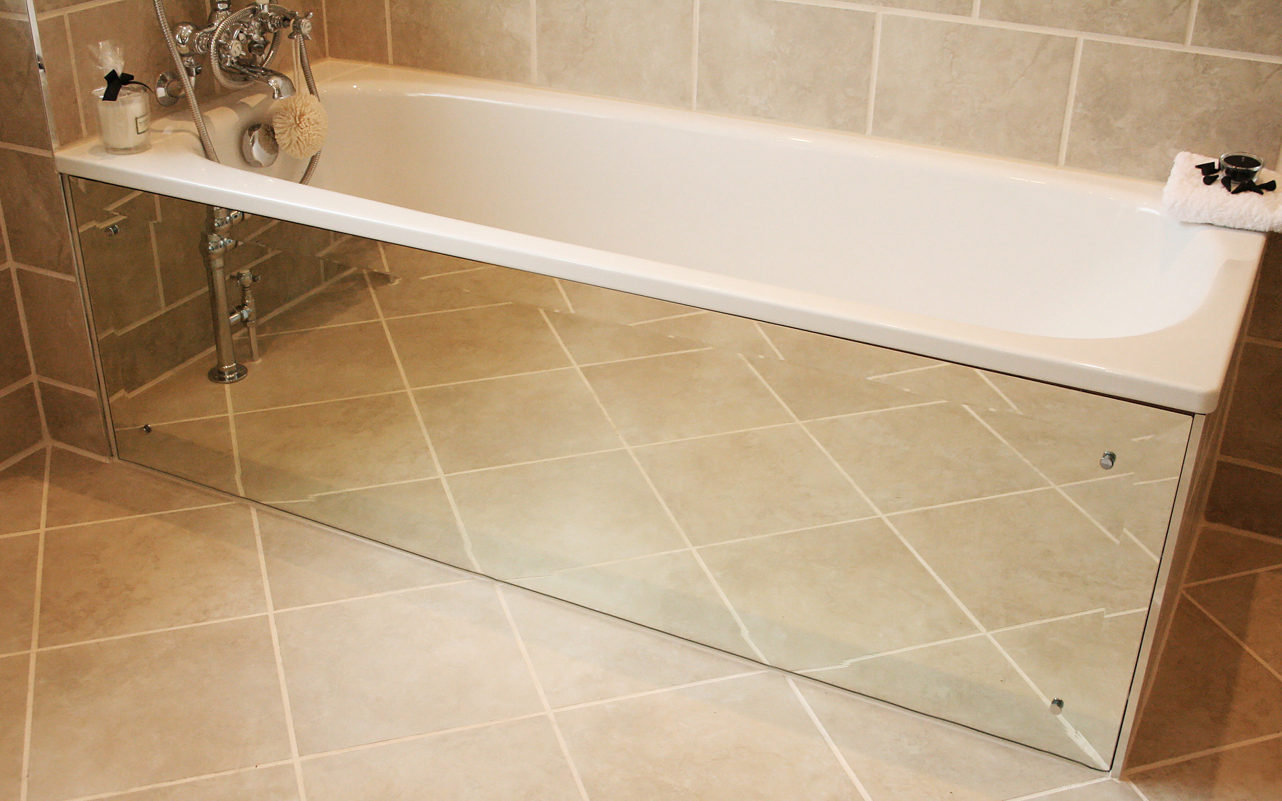 How to create a mirrored bath panel | MOREGEOUS, more than gorgeous ...
