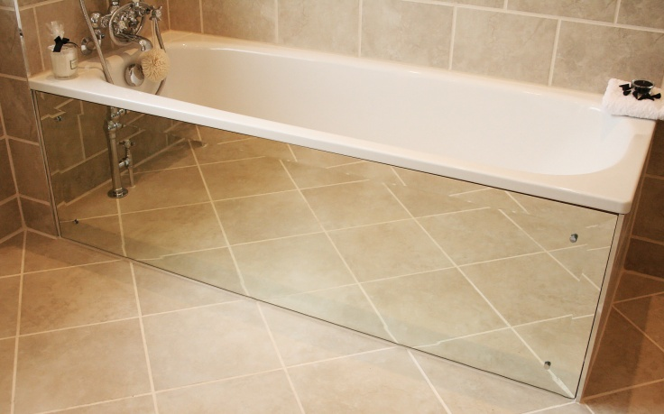 How to make an Art Deco mirrored bath panel