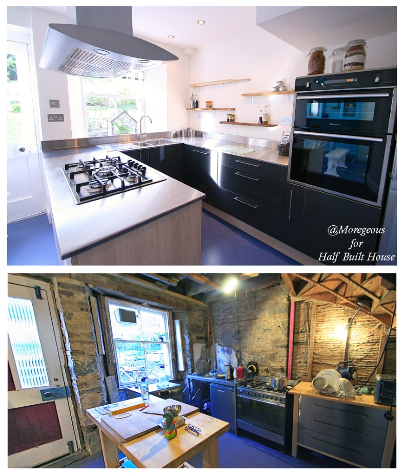 Channel Five's Half Built House Perthshire Kitchen, designed by Sian Astley @Moregeous