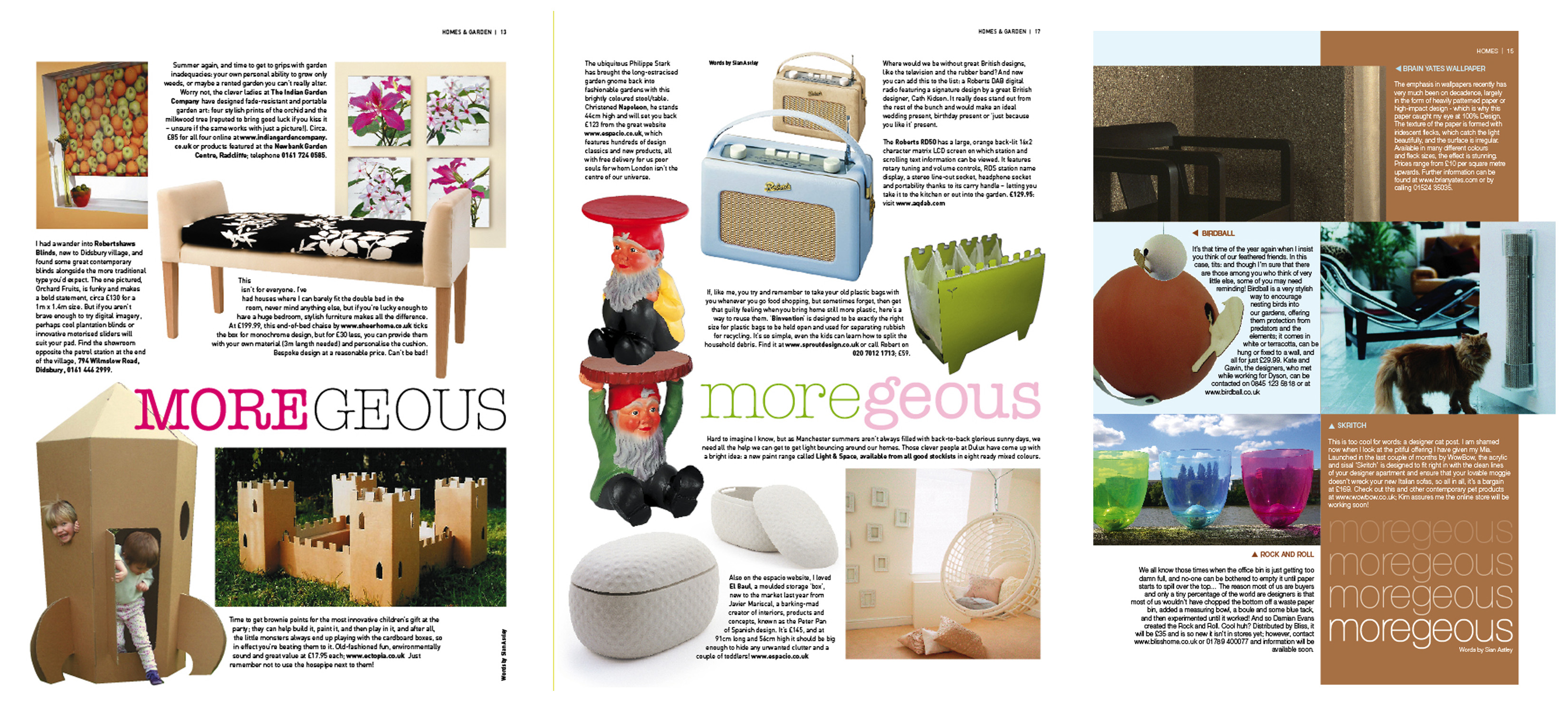 Looking back on some interior product choices from 04 05 moregeous making homes more than Interior magazine