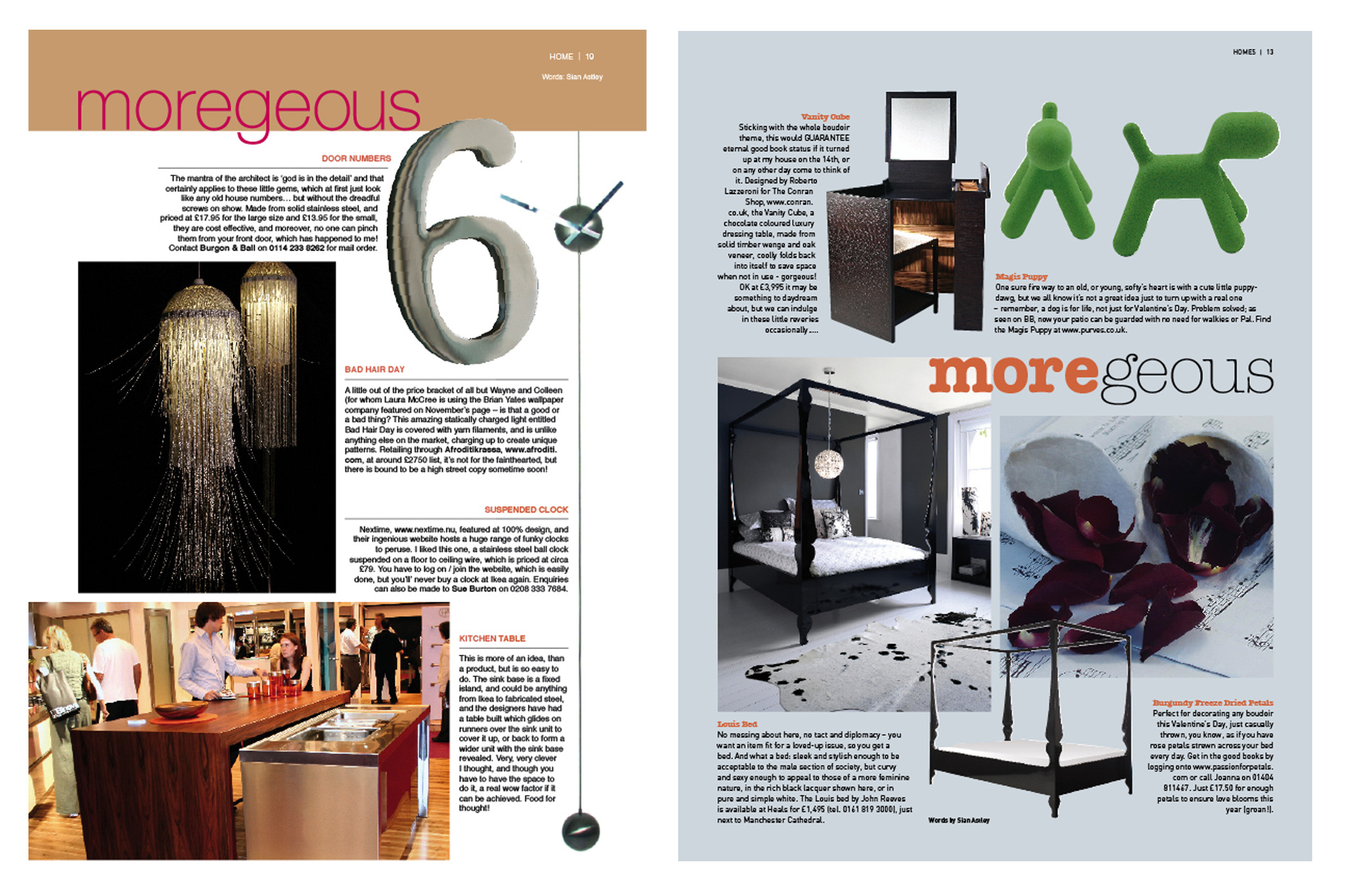 Looking back on some interior product choices from 04 05 for Interior design magazine