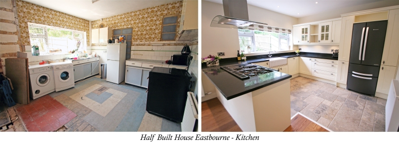Channel Five's Half Built House Eastbourne Kitchen, designed by Sian Astley @Moregeous
