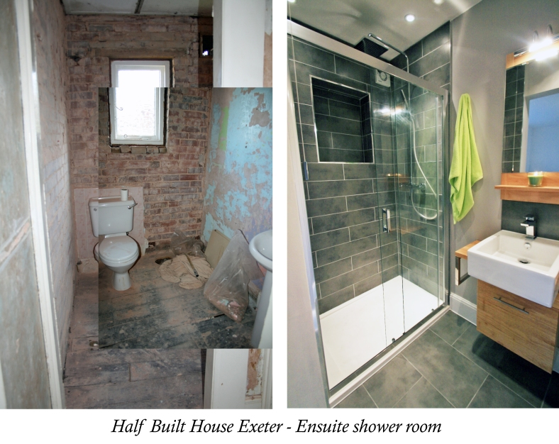 Channel Five's Half Built House Exeter En-suite designed by Sian Astley @Moregeous