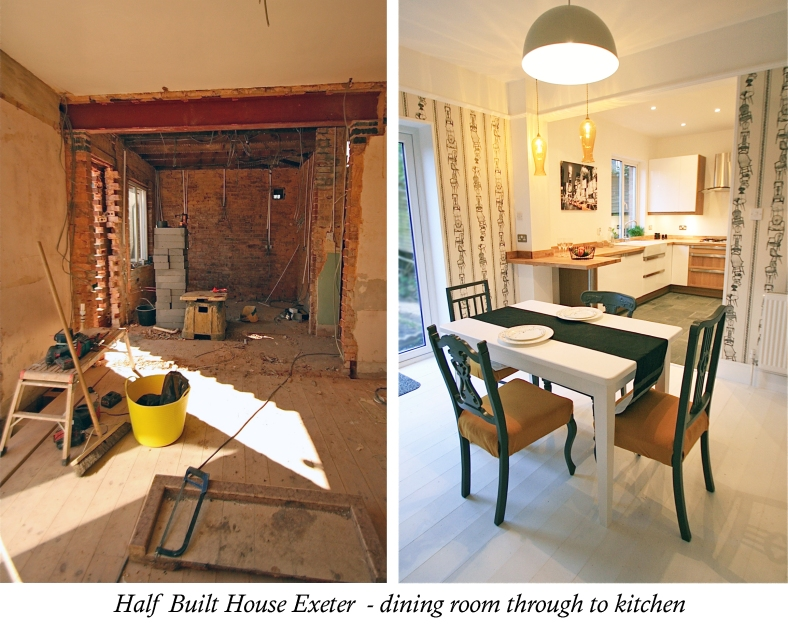 Channel Five's Half Built House Exeter Dining & Kitchen, designed by Sian Astley @Moregeous