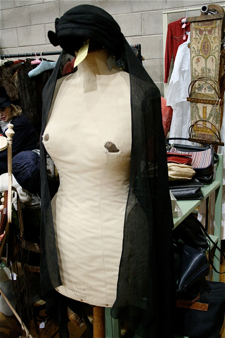 I have a feeling from the wear marks that this dressmakers dummy has been dressed and undressed a few times ;-)