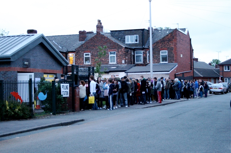 General Election 2010 polling station queues