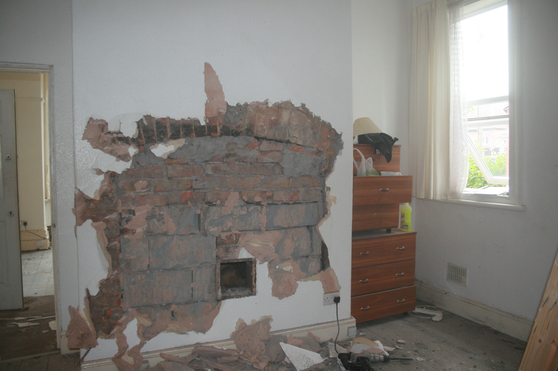 Project payne huge fireplace opened up for dressing table area my idea was to fit a full sized dressing table into the opening and by the time it was opened up i was over the moon it was easily big enough teraionfo