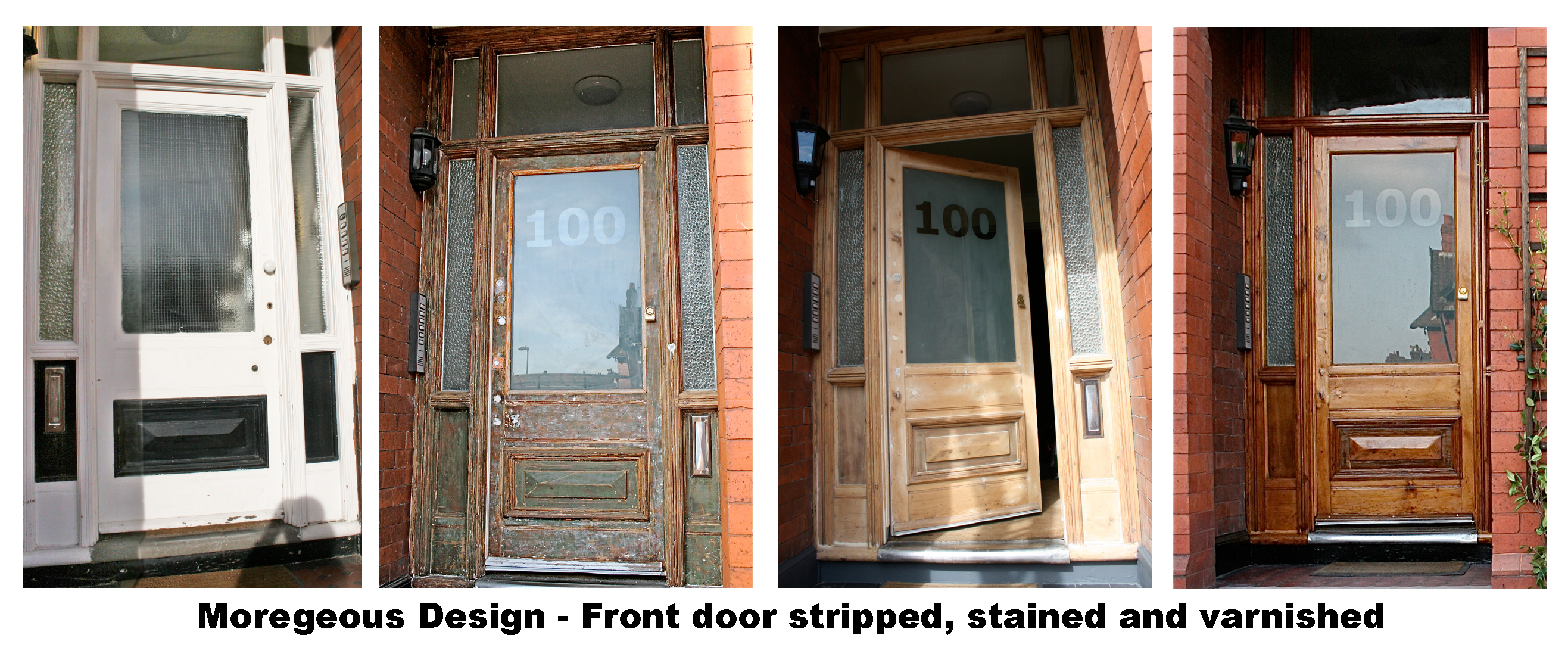 Revitalising Two Tired Old Victorian Doors Stripped Bare