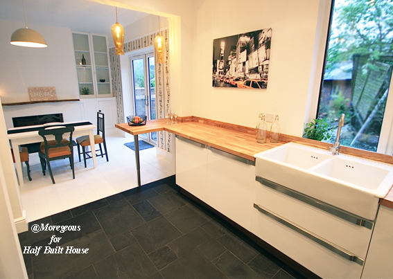 Half Built House Exeter Kitchen. Sian Astley. Channel 5 TV.