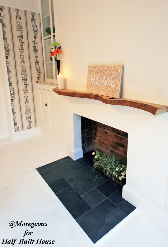 Half Built House Exeter. Opened up dining room original fireplace
