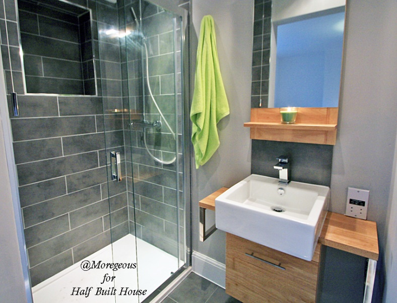 Half built house exeter balancing a home with a new en for Bathroom designs exeter