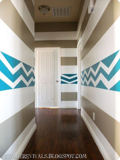 Painting a bold stripe on the walls to keep matt awake in for Painting horizontal stripes on walls tips
