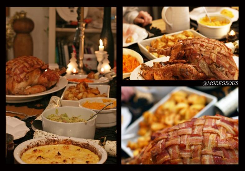 Christmas turkey with bacon lattice 2012