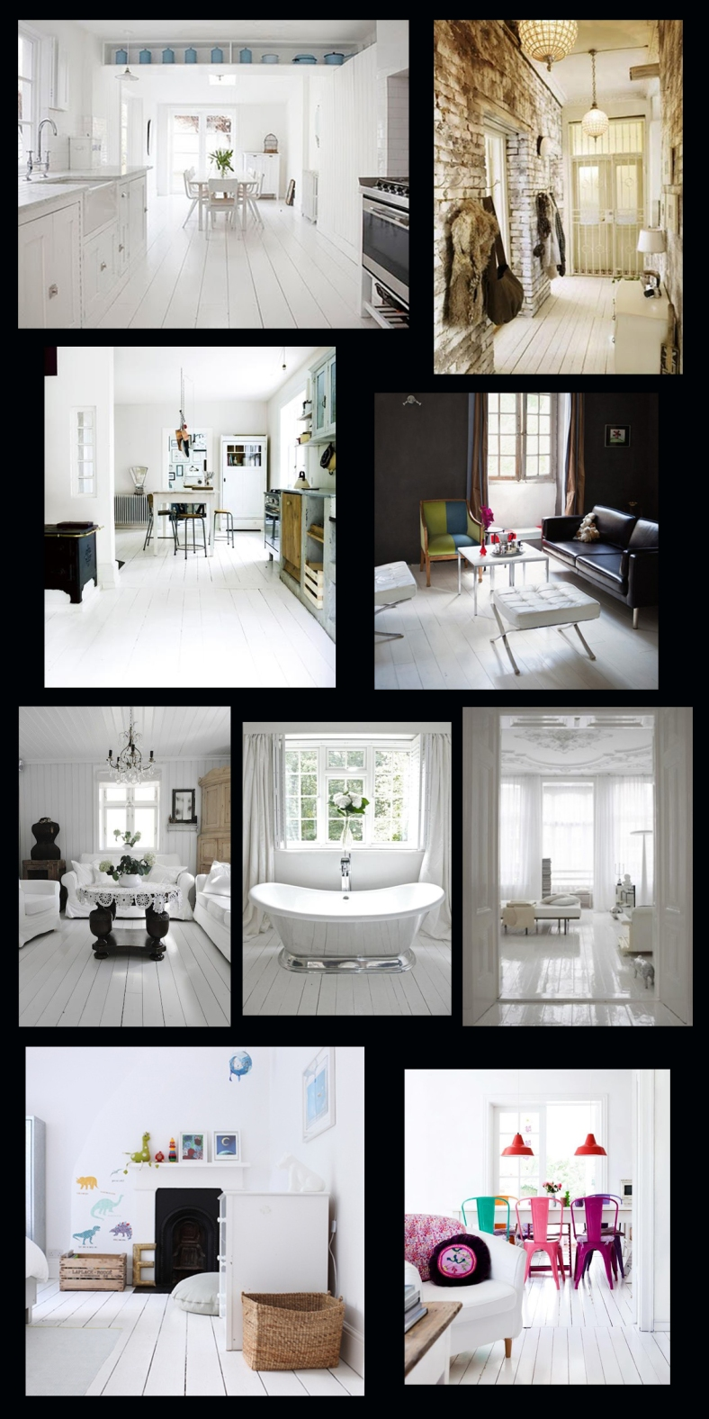 White floorboards and flooring inspiration
