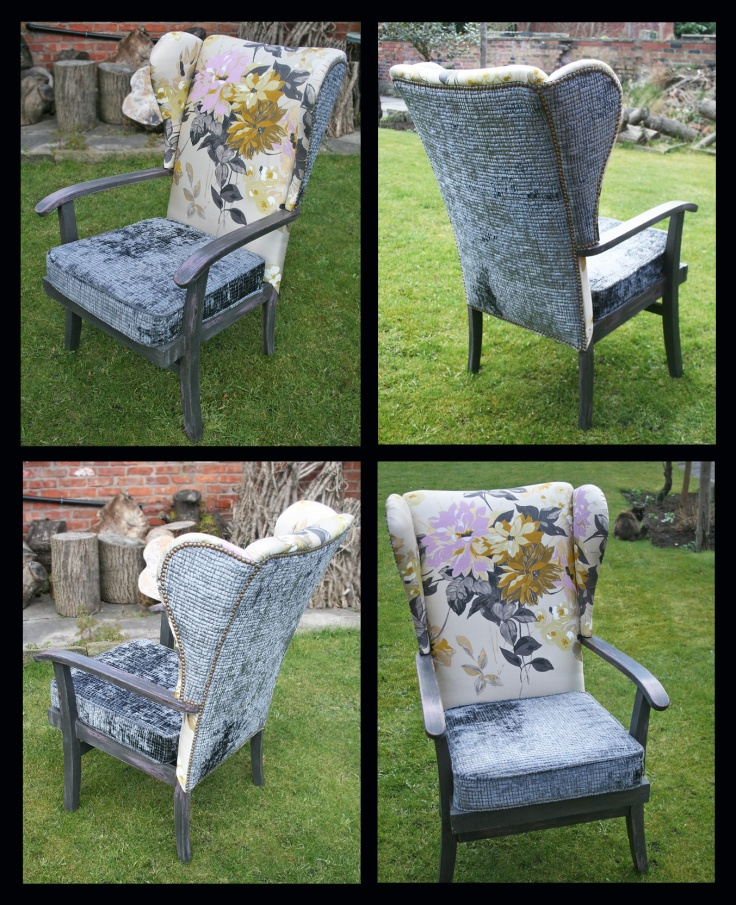 Re-upholstered Parker Knoll wingback chair