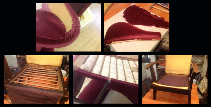 Taking apart a wingback Parker Knoll chair