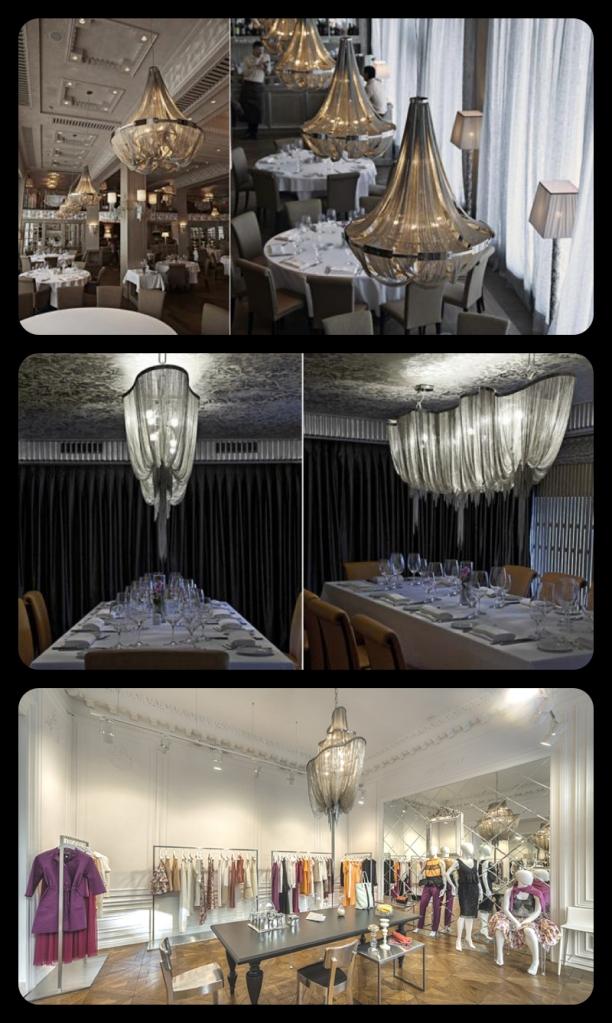 Christian Lava lighting design for Terzani
