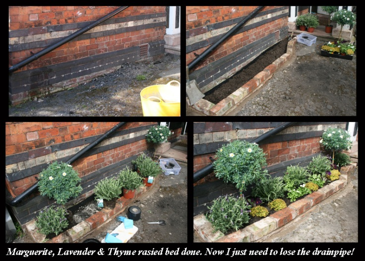 How to do a raised bed next to a wall