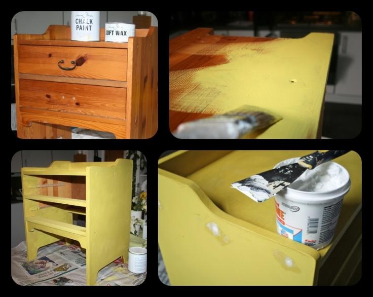 Painting old pine drawers in Annie Sloan English Yellow