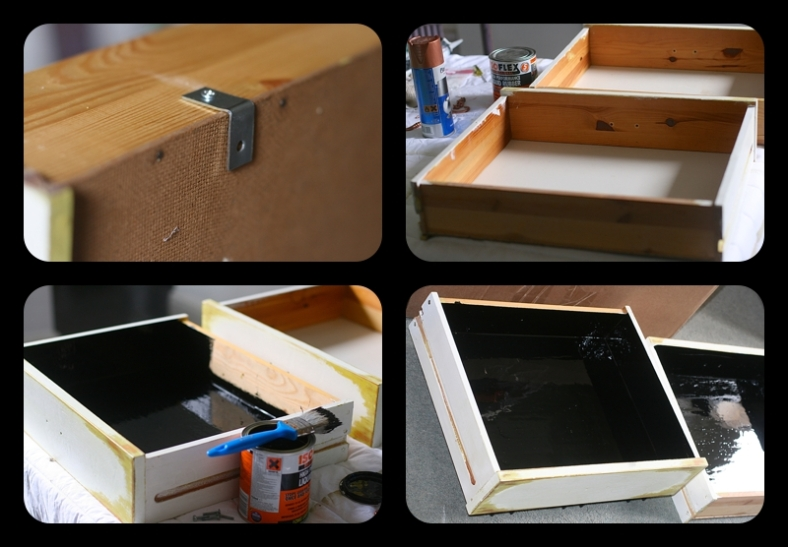 How to waterproof the inside of wooden drawers
