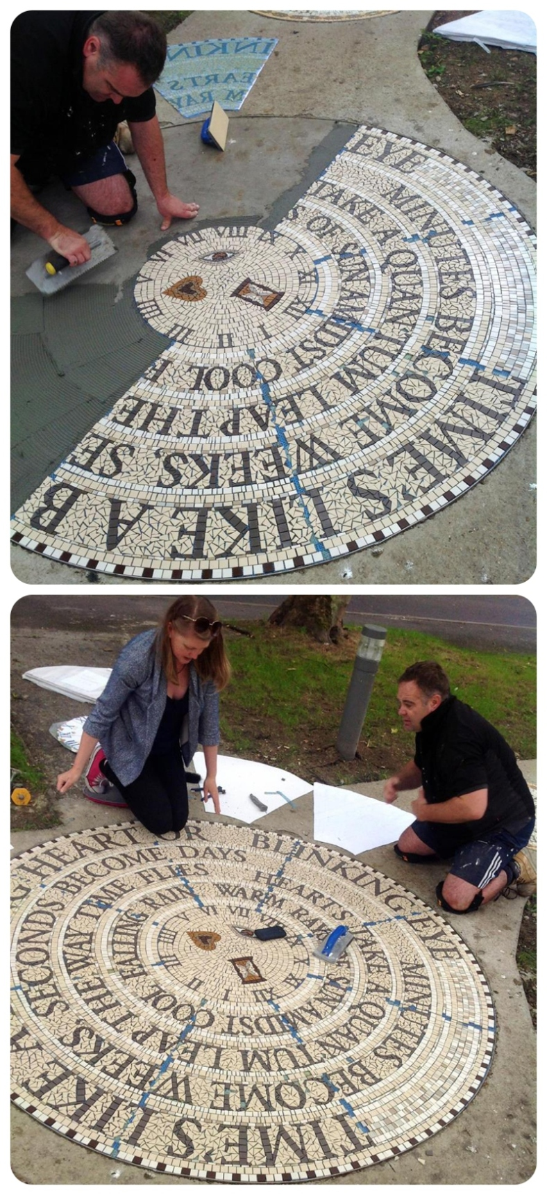 Poetry Mosaic by Amanda McCrann Manchester Mosaics