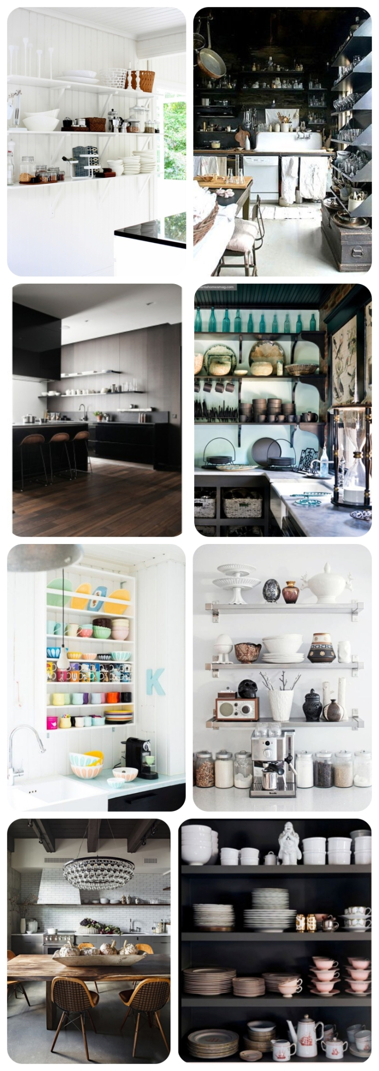 Kitchen Trends 2014, Open Shelving in kitchens