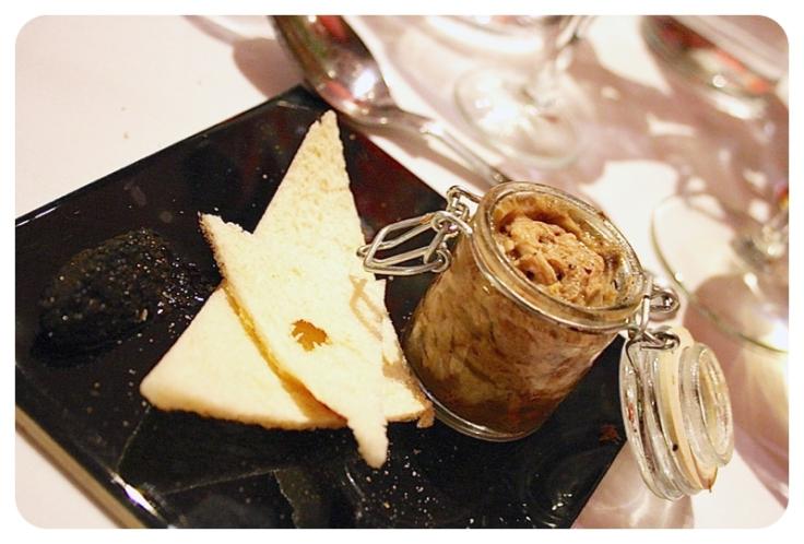 Game terrine with crispbread & truffle chutney