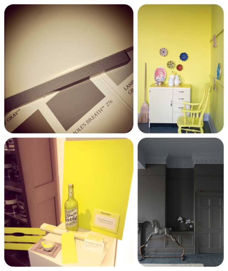 Farrow & Ball Yellowcake and Mole's Breath