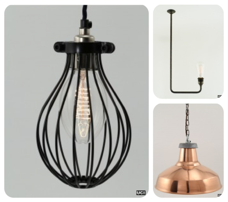 Industrial vintage lighting at Urban Cottage Industries