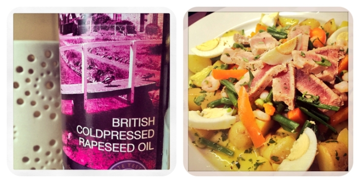 UK Rapeseed Oil used in tuna recipe for dressing