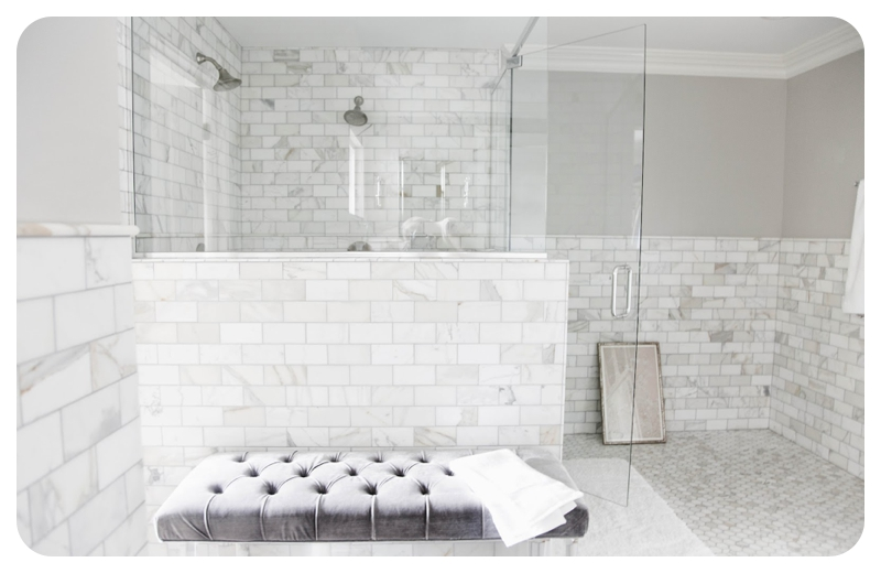 Subway / Metro Tiles For 2014 / 2015 In Bathroom Using White Marble