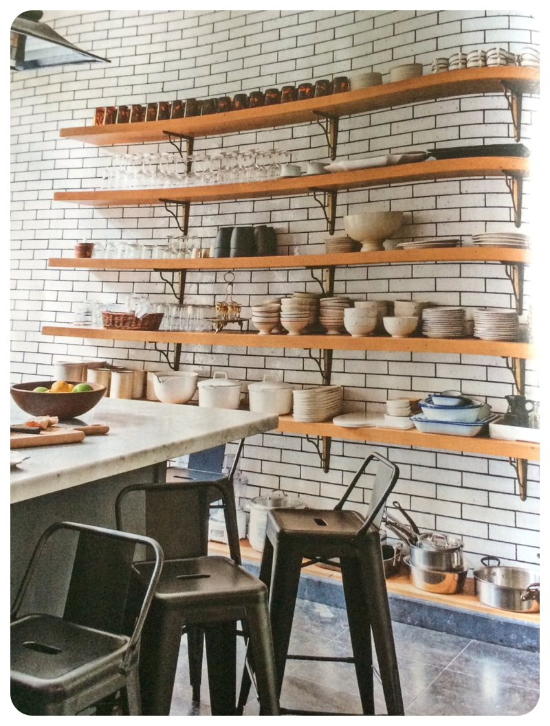 Floor to ceiling white subway tiles with grey grout and vintage ...