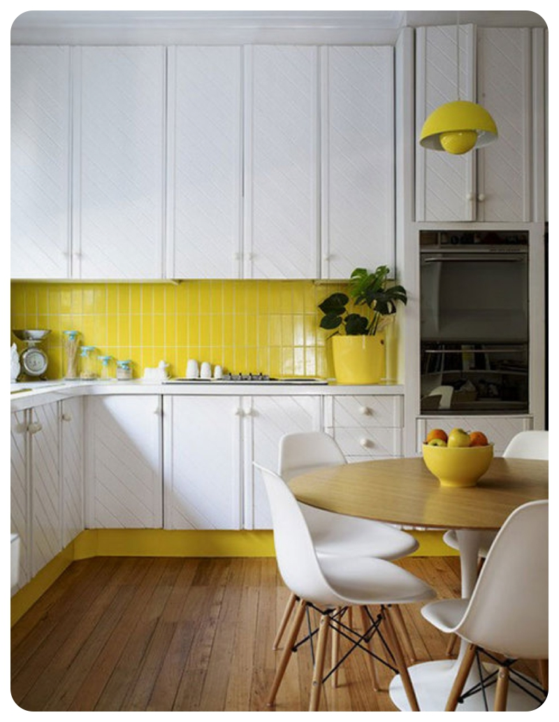 Kitchen Tiles Design Yellow