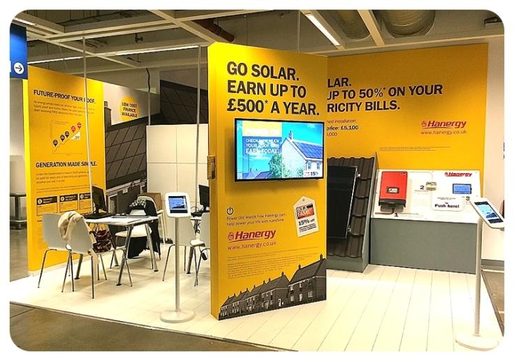 Solar panels at Ikea