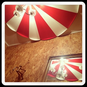 How to create a Big Top circus ceiling