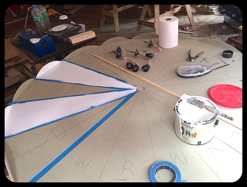 Making a circus ceiling rose with MDF and paint