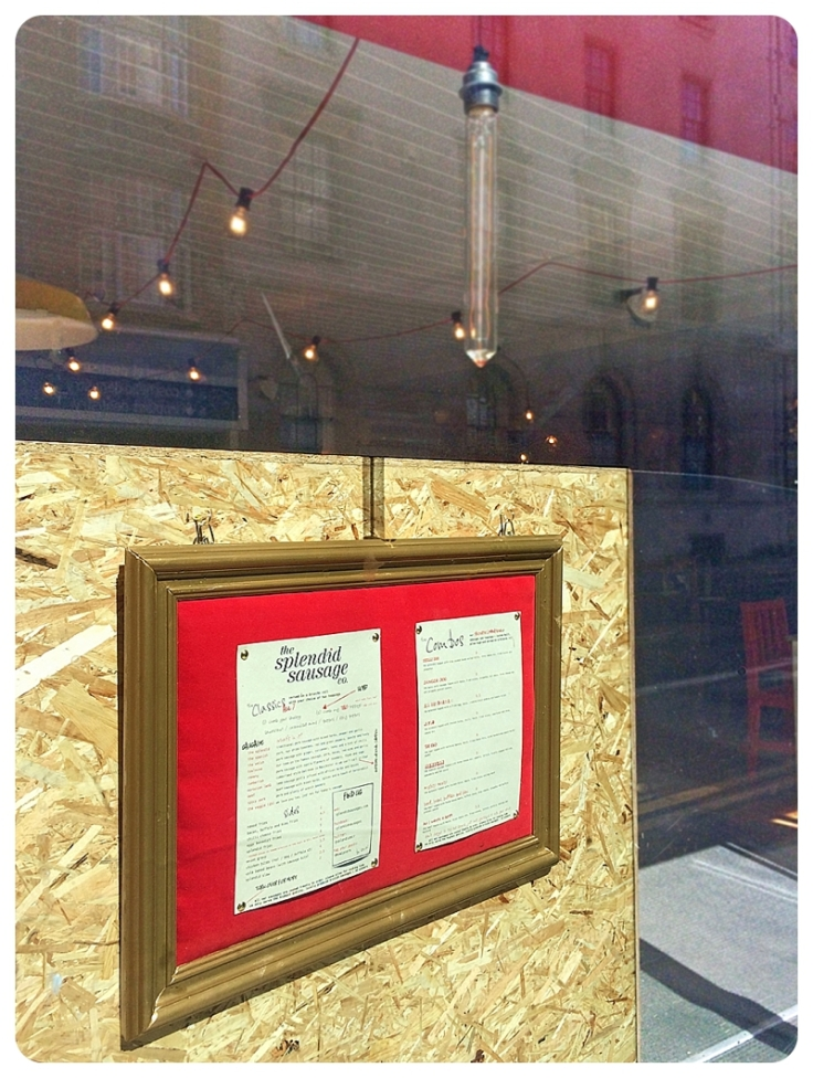 Padded restaurant menu board in red and gold