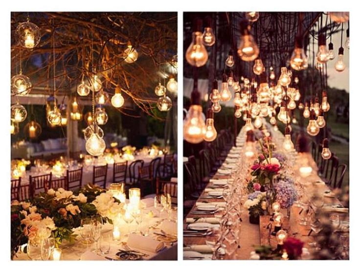 Beautiful wedding lighting via Rachael Mills