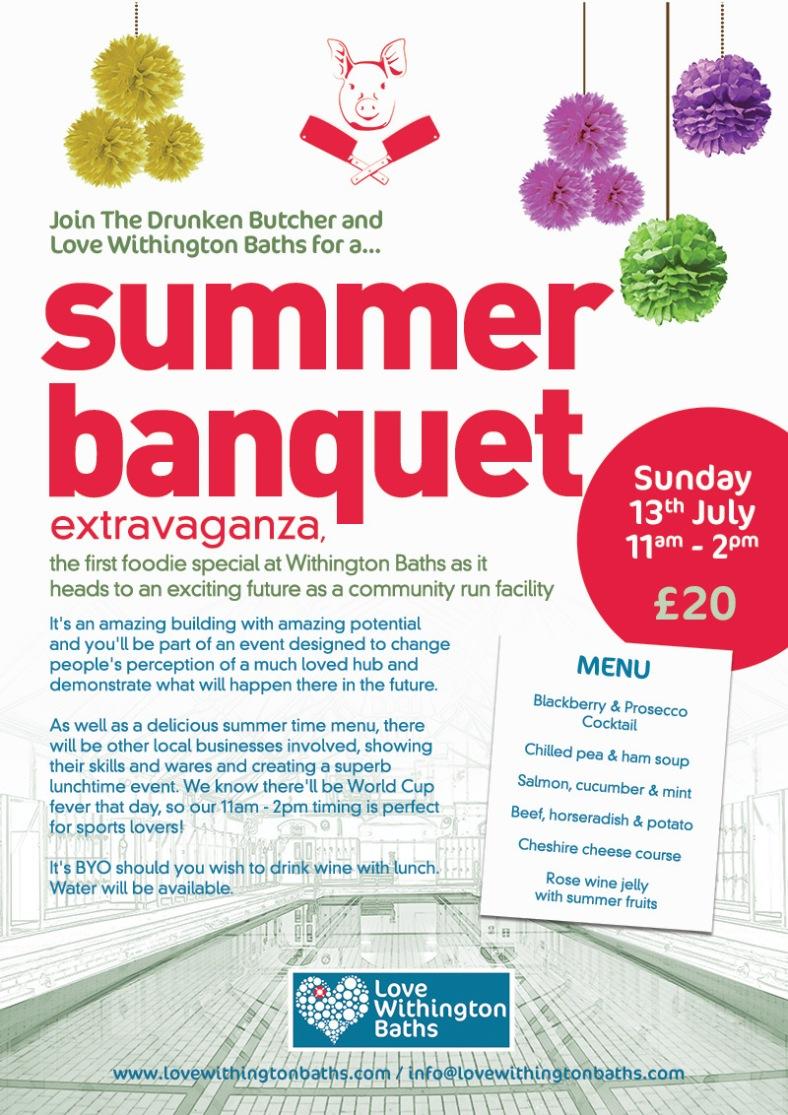 Summer Banquet at Withington Baths 2014