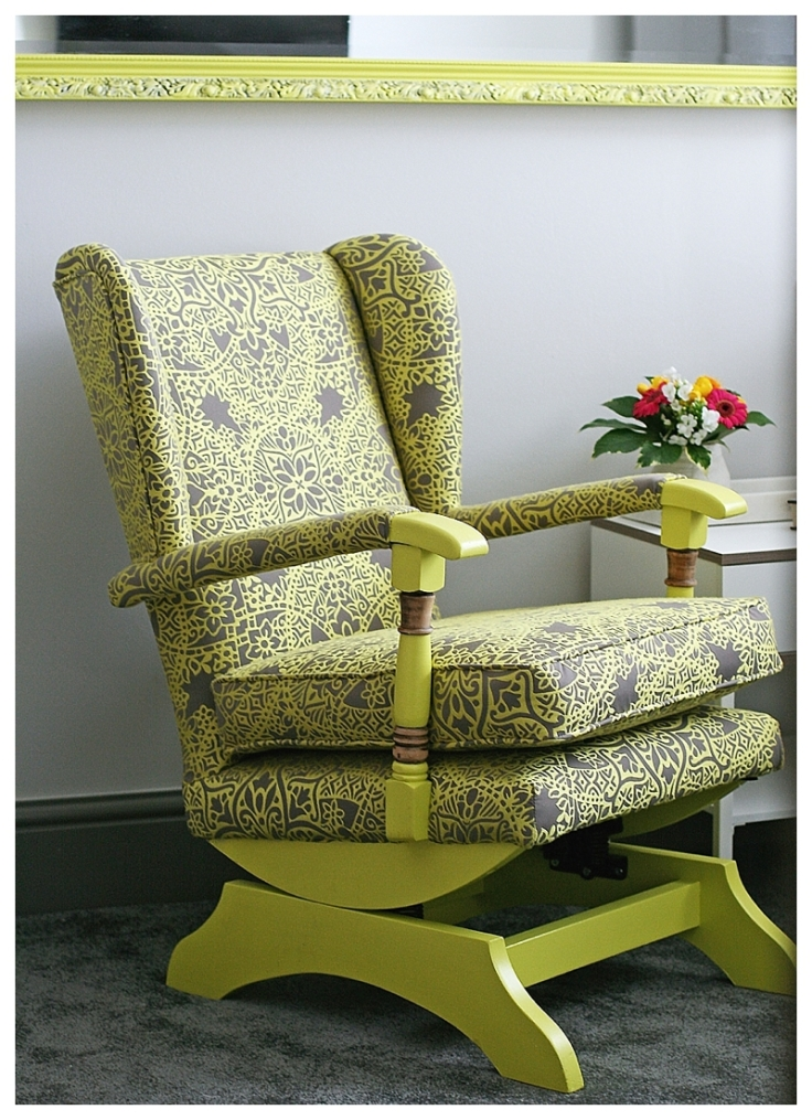 Reupholstered Parker Knoll chair