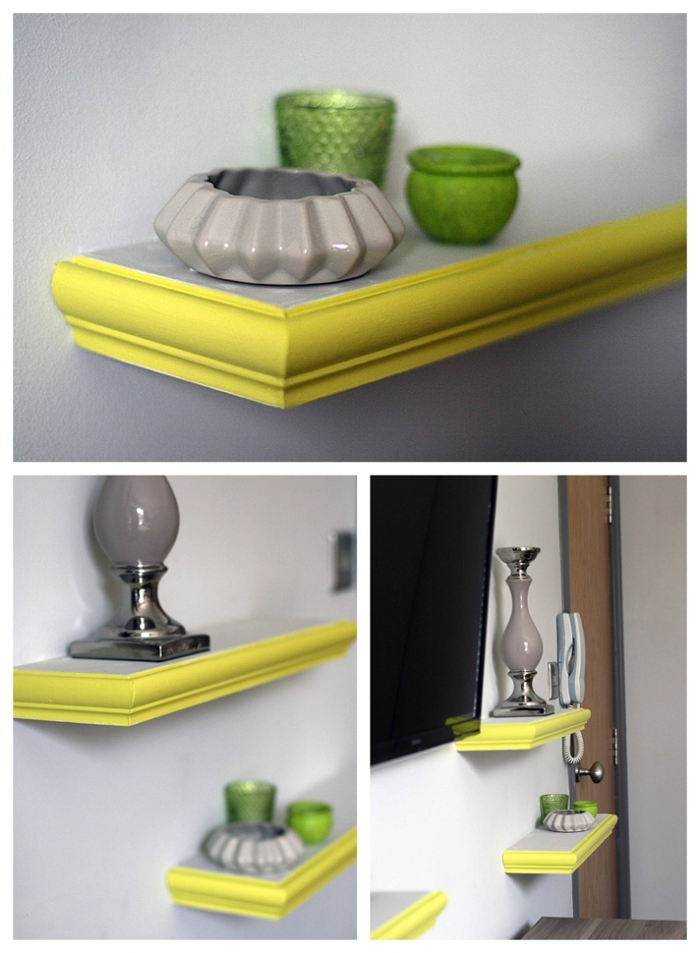 Yellowcake painted shelves