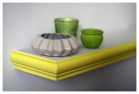Yellowcake painted shelf