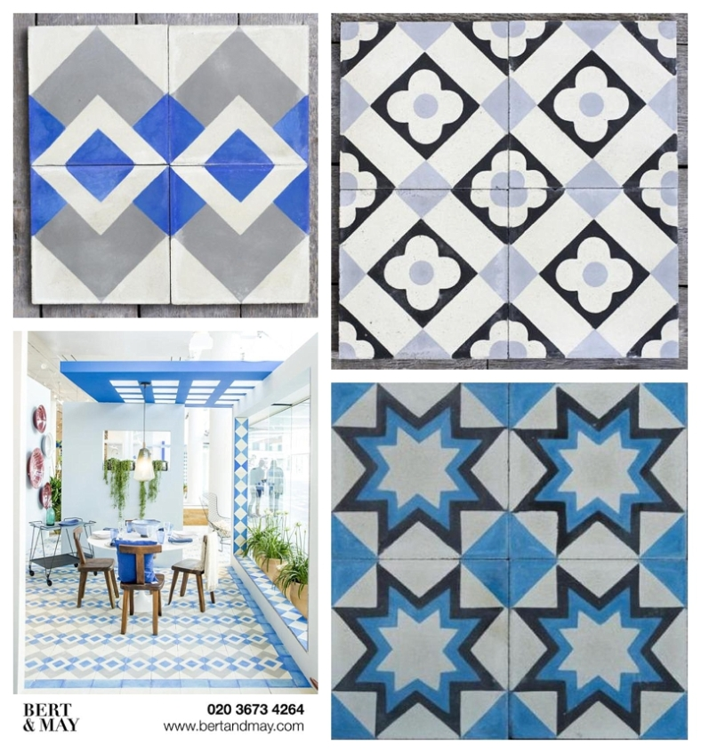 Bert and May collage tiles for the Moregeous Blog