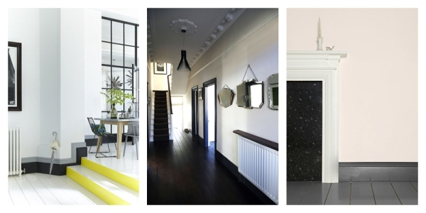 Dark grey or black skirting boards
